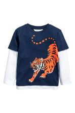 Jersey Top - Dark blue/Tiger - Kids | H&M CA 2
